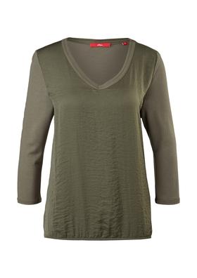 3/4-Arm-Shirt im Fabricmix
