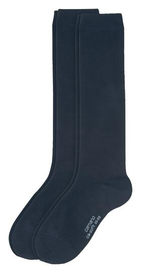 Women Basic ca-soft Knee-high 2p