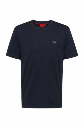 T-Shirt aus Baumwolle mit spiegelverkehrter Logo-Stickerei