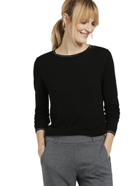 crewneck pullover with lurex