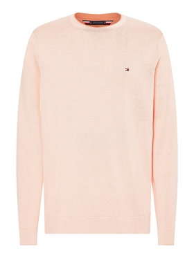 TIPPED DOUBLE FACE CREW NECK