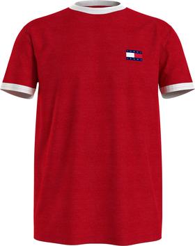T-Shirt mit Kontrast-Badge