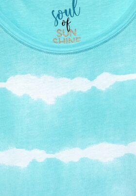 Top mit Batik Streifen