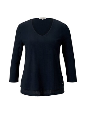 Shirt mit Ripp-Struktur