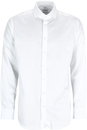 Bügelfreies Twill Business Hemd in Shaped mit Kentkragen