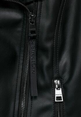 Fake-Lederjacke aus PU
