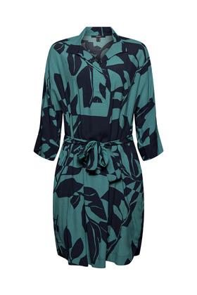 Kleid mit Botanik-Print und LENZING™ ECOVERO™