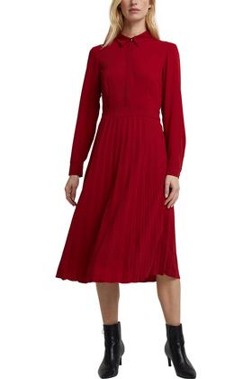 Recycelt: Midi-Hemdblusenkleid mit Plissee