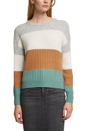Mit Wolle: Pullover aus Ripp-Strick