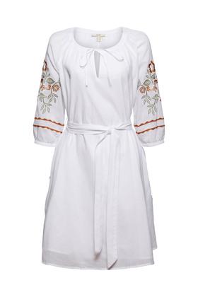 Besticktes Tunika-Kleid, 100% Bio-Baumwolle