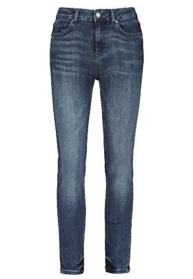 Blaue Jeans mit mittelhohem Bund