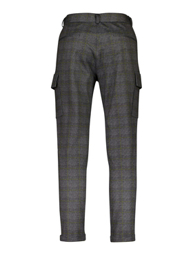 Knitted checked cargo pants