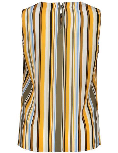 Ärmellose Bluse mit Streifenmuster