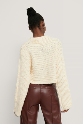 horizontal ribbed knitted sweater