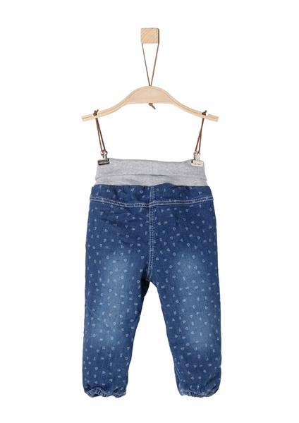 Gemusterte Jeans mit Umschlagbund