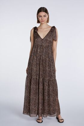 Maxi-Kleid mit Animal-Print