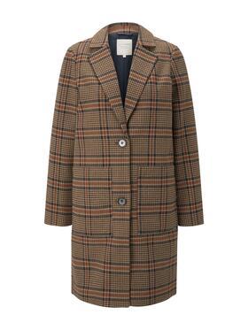 check blazer coat