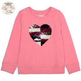 Sweatshirt mit Wendepailletten-Herz