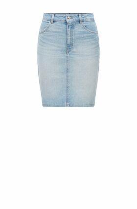 """Minirock """"Denim Skirt"""" aus Stretch-Denim mit hohem Bund"""