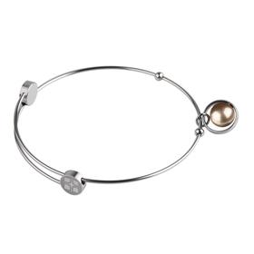 """Armreif """"Stahl - rosé-gold / pearl"""""""