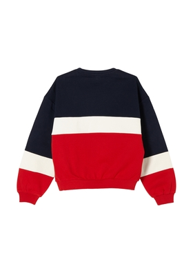 Sweatshirt mit Color-Block