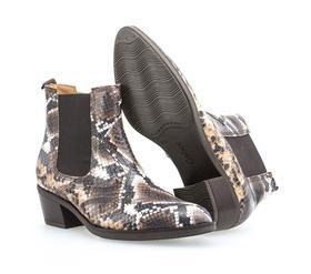 Chelsea Boots in Leder-Reptiloptik