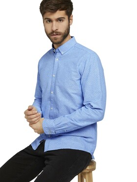 fitted printed oxford shirt