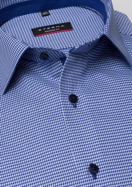 Langarm Hemd Modern Fit Blau/Weiß kariert