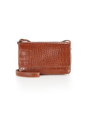 MARIS Flap bag, croco cognac