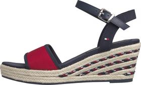 Keilabsatz-Sandale mit Seil-Detail