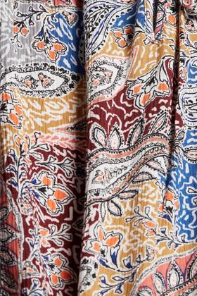 CURVY Blusentop mit Print und Rüschen