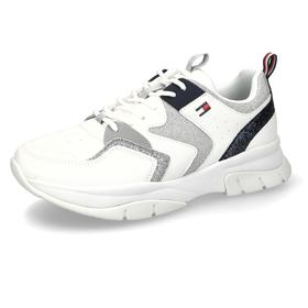 Sneaker mit Metallic-Einsätzen