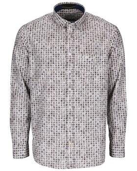 Modernes Langarmhemd mit Allover Print