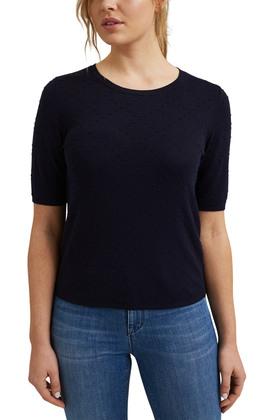 Kurzarm-Pullover mit Punkte-Struktur