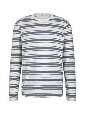 striped boucl# longsleeve