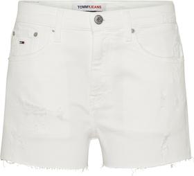 Jeans-Shorts mit offenen Kanten