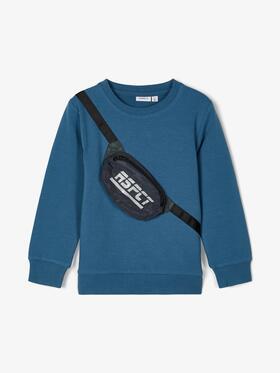 Sweatshirt mit Gürteltaschen-Applikation