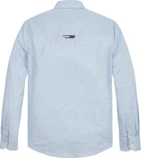 Bio-Baumwollhemd mit Dobby-Punkten