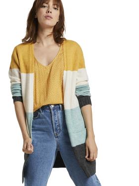 cosy striped basic cardigan