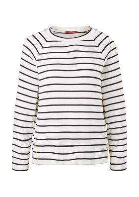 Strickjersey-Shirt mit Streifen