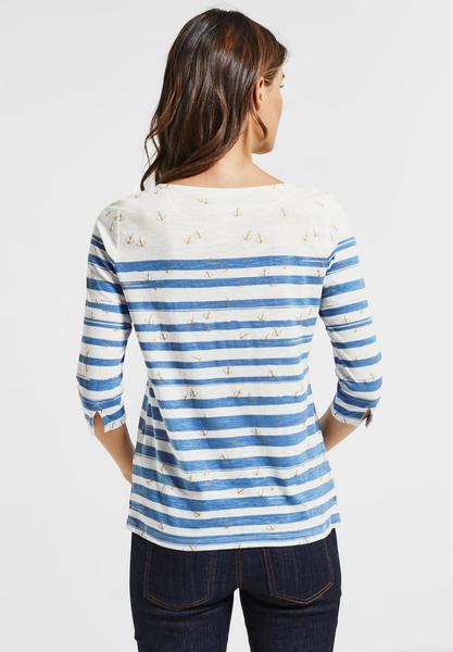 Ankerprint Shirt mit Glanz