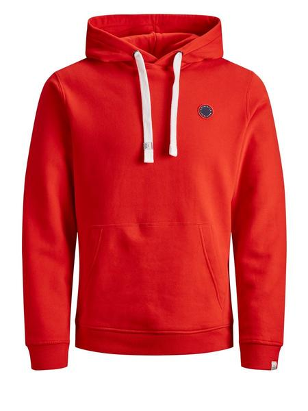 JORCULKIN SWEAT HOOD-Fiery Red