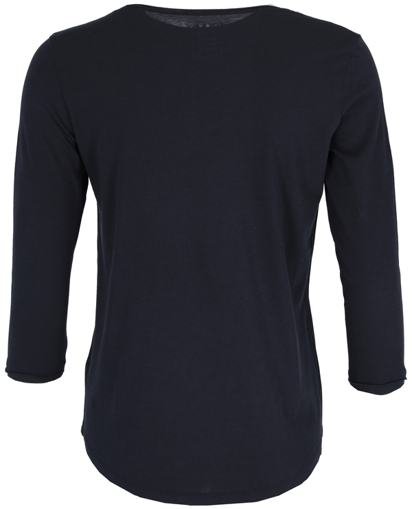 T-shirt, 3 4-sleeve, rounded v-neck
