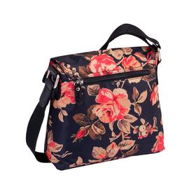 Rina Rose Flap bag, Flap bag M no zip flower black