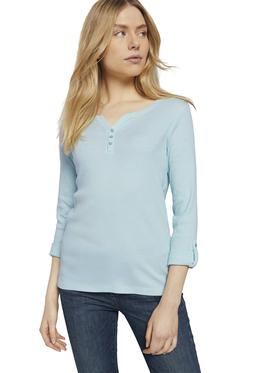 T-shirt stripe henley