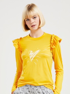 Langarmshirt mit Volants