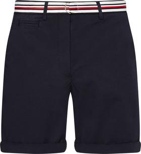 Chino-Shorts mit Gürtel in Tommy-Farben