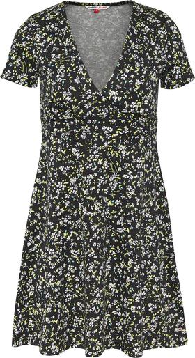 TJW FIT FLARE FLORAL PRINT DRESS
