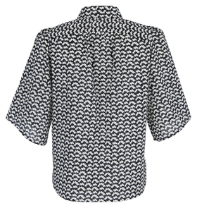 Blouse, short sleeve, kent collar,