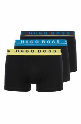 """Dreier-Pack Boxershorts """"Trunk"""" aus Stretch-Baumwolle mit Logo am Bund"""